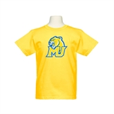 Youth Gold T Shirt-MU w/Cougar Head
