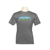 Youth Performance Grey Concrete Tee-Arched Misericordia Cougars