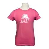 Youth Girls Fuchsia Fashion Fit T Shirt-MU w/Cougar Head