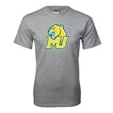 Grey T Shirt-MU w/Cougar Head