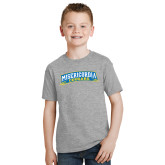Youth Grey T-Shirt-Arched Misericordia Cougars