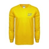 Gold Long Sleeve T Shirt-MU