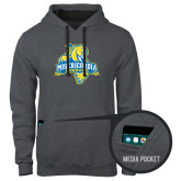 Contemporary Sofspun Charcoal Heather Hoodie-Misericordia Official Logo