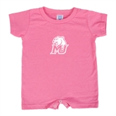 Bubble Gum Pink Infant Romper-MU w/Cougar Head