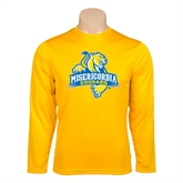 Performance Gold Longsleeve Shirt-Misericordia Official Logo