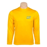 Performance Gold Longsleeve Shirt-MU