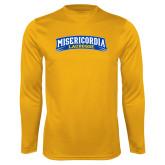 Performance Gold Longsleeve Shirt-Lacrosse