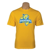 Performance Gold Tee-Misericordia Official Logo