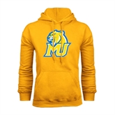 Gold Fleece Hoodie-MU w/Cougar Head