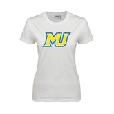 Ladies White T Shirt-MU
