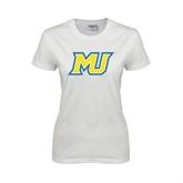 Ladies White T Shirt-MU