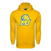 Under Armour Gold Performance Sweats Team Hoodie-MU w/Cougar Head