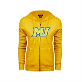 ENZA Ladies Gold Fleece Full Zip Hoodie-MU