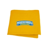 Gold Sweatshirt Blanket-Arched Misericordia Cougars