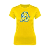 Ladies Syntrel Performance Gold Tee-MU w/Cougar Head
