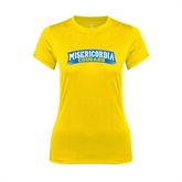 Ladies Syntrel Performance Gold Tee-Arched Misericordia Cougars