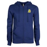 ENZA Ladies Royal Fleece Full Zip Hoodie-MU w/Cougar Head