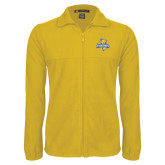 Fleece Full Zip Gold Jacket-Misericordia Official Logo