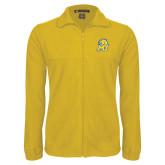Fleece Full Zip Gold Jacket-MU w/Cougar Head