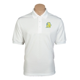 White Dry Mesh Polo-MU w/Cougar Head