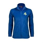 Ladies Fleece Full Zip Royal Jacket-Misericordia Official Logo