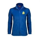 Ladies Fleece Full Zip Royal Jacket-MU w/Cougar Head