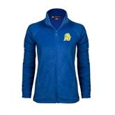 Ladies Fleece Full Zip Royal Jacket-MU w/Cougar Head