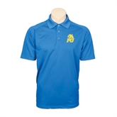 Royal Textured Saddle Shoulder Polo-MU w/Cougar Head