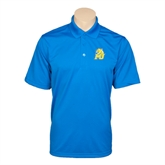 Royal Mini Stripe Polo-MU w/Cougar Head