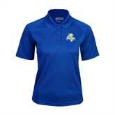 Ladies Royal Textured Saddle Shoulder Polo-Misericordia Official Logo