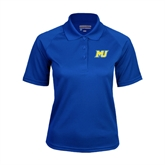Ladies Royal Textured Saddle Shoulder Polo-MU