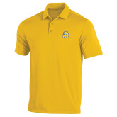 Under Armour Gold Performance Polo-MU w/Cougar Head