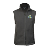 Fleece Full Zip Charcoal Vest-Misericordia Official Logo