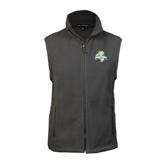 Fleece Full Zip Charcoal Vest-Misericordia Official Logo