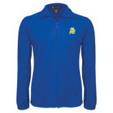 Fleece Full Zip Royal Jacket-MU w/Cougar Head
