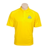 Gold Textured Saddle Shoulder Polo-Misericordia Official Logo