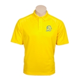 Gold Textured Saddle Shoulder Polo-MU w/Cougar Head