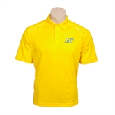Gold Textured Saddle Shoulder Polo-MU