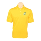 Gold Dry Mesh Polo-MU w/Cougar Head