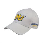 White Heavyweight Twill Pro Style Hat-MU
