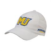 White OttoFlex Unstructured Low Profile Hat-MU
