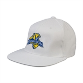 White OttoFlex Flat Bill Pro Style Hat-Misericordia Official Logo