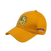 Gold Heavyweight Twill Pro Style Hat-MU w/Cougar Head