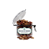 Deluxe Nut Medley Small Round Canister-Misericordia Official Logo
