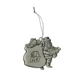 Pewter Santa Ornament-MU w/Cougar Head Engraved