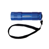 Industrial Triple LED Blue Flashlight-Arched Misericordia Cougars Wordmark Engraved