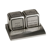 Icon Action Dice-Arched Misericordia Cougars Wordmark Engraved