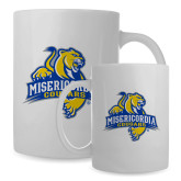 Full Color White Mug 15oz-Misericordia Official Logo
