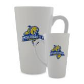 Full Color Latte Mug 17oz-Misericordia Official Logo