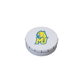 White Round Peppermint Clicker Tin-MU w/Cougar Head